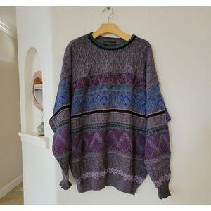 Vittorio Rocchetti wool boho/multi color sweater